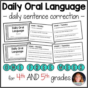 Daily oral language practice sheets