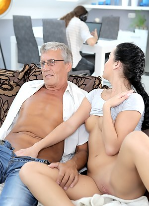 Teen girl and old men nude