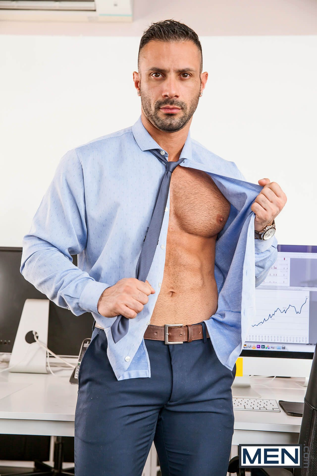 Sexy gay office